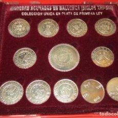 Reproductions billets et monnaies: MONEDAS ACUÑADAS EN MALLORCA. REPLICAS EN PLATA 925.. Lote 158057850