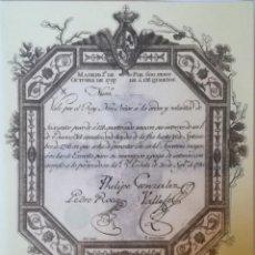 Reproducciones billetes y monedas: BILLETE FACSIMIL EL PAPEL DE LA PESETA ~600 PESOS 1797. Lote 158970714
