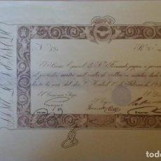 Reproducciones billetes y monedas: BILLETE FACSIMIL EL PAPEL DE LA PESETA ~4000 REALES DE VELLON 1835. Lote 158972094