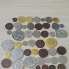 Reproducciones billetes y monedas: LOTE DE 55 REPRODUCCIONES DE MONEDAS ESPAÑOLAS ANTIGUAS. Lote 159060266