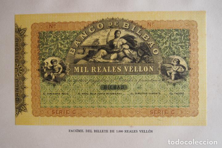 BILLETE 1000 REALES VELLÓN BANCO DE BILBAO 1857 APROXIMADAMENTE MIL FACSÍMIL EDITADOS 1932 VER FOTOS (Numismática - Reproducciones)