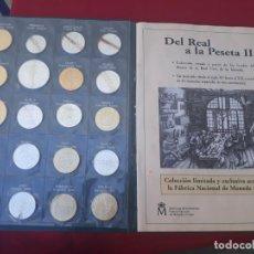 Reproducciones billetes y monedas: COLECCION EL PAIS REAL DE LA PESETA II , BAÑADA EN ORO Y PLATA. Lote 159628458