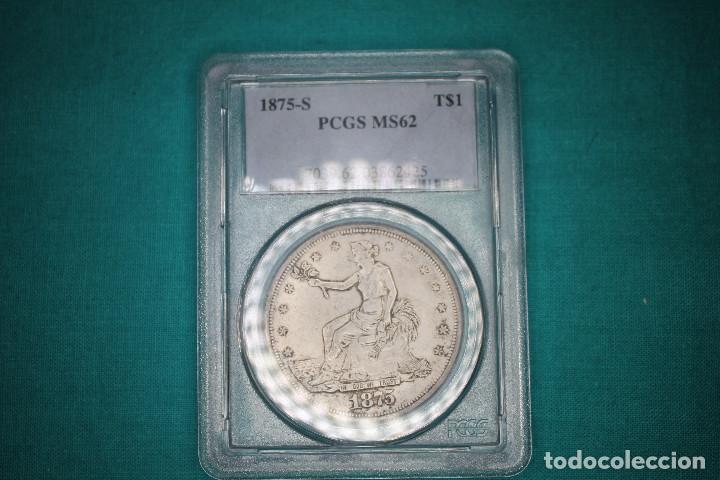 USA MONEDA TRADE DOLLAR1875-S (Numismática - Reproducciones)