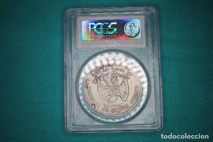 Reproducciones billetes y monedas: USA Moneda Trade Dollar1875-S - Foto 2 - 173674078