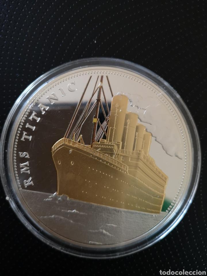 MEDALLA O MONEDA CONMEMORATIVA DE LOS 100 AÑOS DE LA TRAGEDIA DEL TITANIC. (Numismática - Reproducciones)