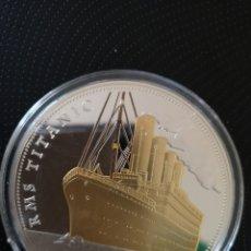 Reproducciones billetes y monedas: MEDALLA O MONEDA CONMEMORATIVA DE LOS 100 AÑOS DE LA TRAGEDIA DEL TITANIC.. Lote 160231172