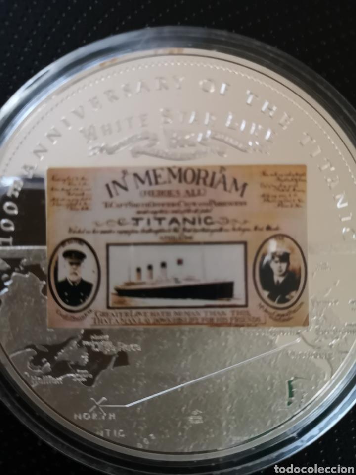 Reproducciones billetes y monedas: MEDALLA O MONEDA CONMEMORATIVA DE LOS 100 AÑOS DE LA TRAGEDIA DEL TITANIC. - Foto 2 - 160231172
