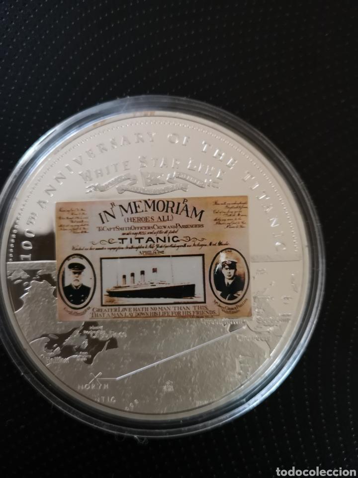 Reproducciones billetes y monedas: MEDALLA O MONEDA CONMEMORATIVA DE LOS 100 AÑOS DE LA TRAGEDIA DEL TITANIC. - Foto 3 - 160231172