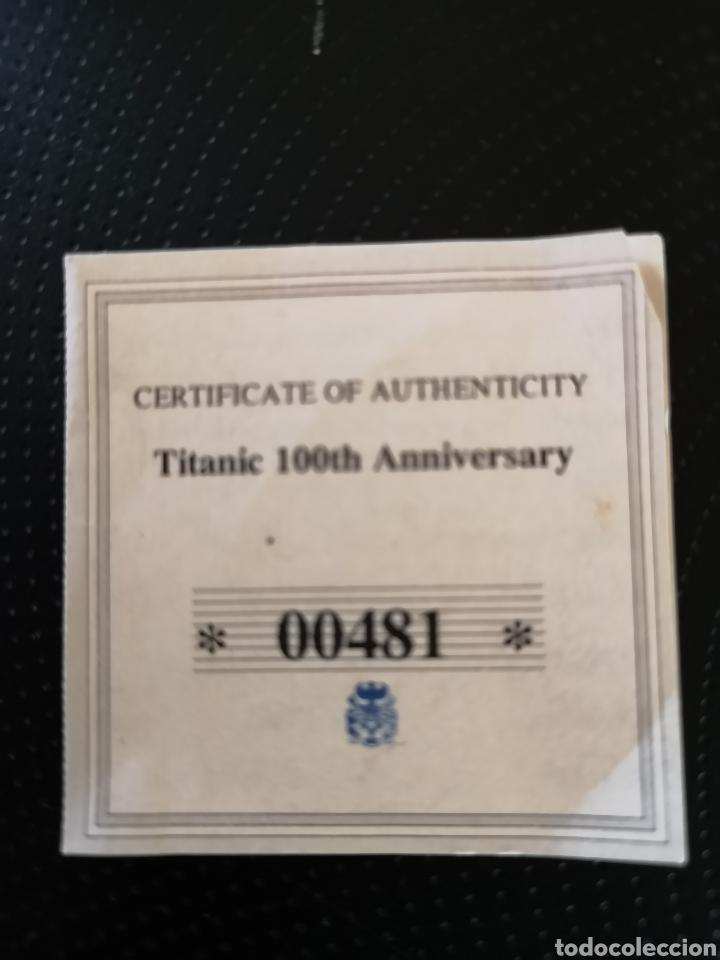 Reproducciones billetes y monedas: MEDALLA O MONEDA CONMEMORATIVA DE LOS 100 AÑOS DE LA TRAGEDIA DEL TITANIC. - Foto 5 - 160231172