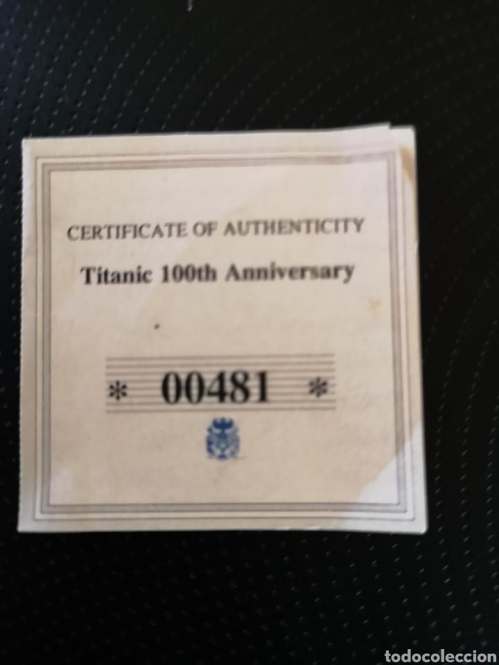 Reproducciones billetes y monedas: MEDALLA O MONEDA CONMEMORATIVA DE LOS 100 AÑOS DE LA TRAGEDIA DEL TITANIC. - Foto 6 - 160231172