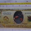 Reproducciones billetes y monedas: BILLETE EEUU CONMEMORATIVO. DÓLAR. BODA MATRIMONIO ANIVERSARIO. DÓLARES. PERFECTO.. Lote 160364642