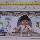 Reproducciones billetes y monedas: BILLETE EEUU CONMEMORATIVO. DÓLAR. FELIZ AÑO NUEVO BEBE NIÑO. DÓLARES. PERFECTO.. Lote 160365050