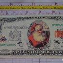 Reproducciones billetes y monedas: BILLETE EEUU CONMEMORATIVO. DÓLAR. NAVIDADES SANTA CLAUS PAPA NOEL. DÓLARES. PERFECTO.. Lote 160365438