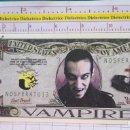 Reproducciones billetes y monedas: BILLETE EEUU CONMEMORATIVO. DÓLAR. VAMPIRO DRÁCULA. DÓLARES. PERFECTO.. Lote 160365742