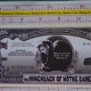 Reproducciones billetes y monedas: BILLETE EEUU CONMEMORATIVO. DÓLAR. EL JOROBADO DE NOTRE DAME PARIS. DÓLARES. PERFECTO.. Lote 160366006