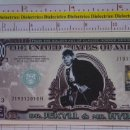 Reproducciones billetes y monedas: BILLETE EEUU CONMEMORATIVO. DÓLAR. EL DR. JEKYLL & MR HYDE. DÓLARES. PERFECTO.. Lote 160366114