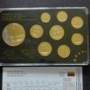Reproducciones billetes y monedas: LITUANIA SET DE LA SERIE PRESTIGE ESPÉCIMEN. Lote 160589645
