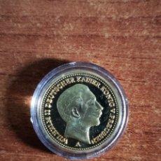 Reproducciones billetes y monedas: REPLICA MONEDA DE ORO 20 MARCOS ALEMANIA WILHELM II. Lote 160958614