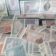 Reproducciones billetes y monedas: EL PAPEL DE LA PESETA CON COLECCIÓN DE 40 BILLETES (REPRODUCCIONES). Lote 160971508