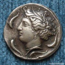 Reproducciones billetes y monedas: REPRODUCCION DE DECADRACMA DE SIRACUSA, 405-380 A.C.. Lote 161082522