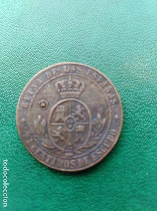 Reproducciones billetes y monedas: Moneda Isabel II 1868 España replica - Foto 2 - 161550582