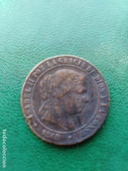 MONEDA ISABEL II 1868 ESPAÑA REPLICA (Numismática - Reproducciones)