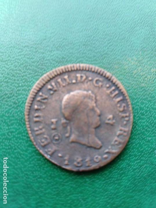 MONEDA FERNANDO VII 1819 ESPAÑA REPLICA (Numismática - Reproducciones)