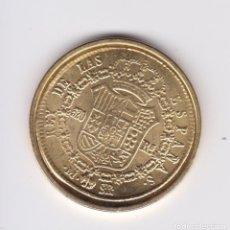 Reproducciones billetes y monedas: FERNANDO VII : 320 REALES 1823 MADRID ( REPRODUCCUÓN FNMT BAÑADA EN ORO ) . Lote 161575734