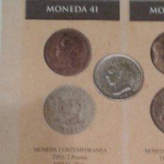 Reproducciones billetes y monedas: MONEDA 2 PESETAS COLOR PLATA ALFONSO XIII. 1905. CECA MADRID. REPRODUCCIÓN.. Lote 161580296