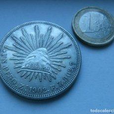 Reproducciones billetes y monedas: REPRODUCCION DE LA MONEDA DE 1 PESO DE MEJICO AÑO 1902. Lote 161649262