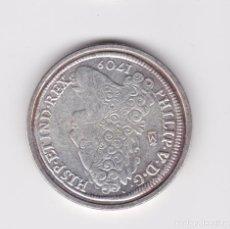 Reproducciones billetes y monedas: FELIPE V : 8 REALES 1709 MADRID ( REPRODUCCIÓN FNMT BAÑADA EN PLATA ) . Lote 161661174