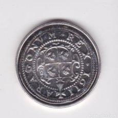 Reproducciones billetes y monedas: FELIPE III : 8 REALES 1611 ZARAGOZA ( REPRODUCCIÓN FNMT BAÑADA EN PLATA ) ) . Lote 161661338