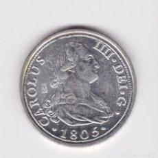 Reproducciones billetes y monedas: CARLOS IV : 8 REALES 1805 MADRID ( REPRODUCCIÓN FNMT BAÑADA EN PLATA ) . Lote 161661370