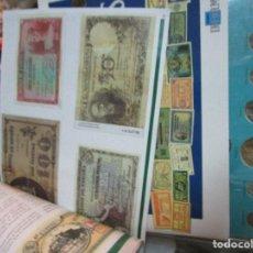 Reproducciones billetes y monedas: BILLETES Y MONEDAS EN LA HISTORIA DE ALICANTE DOS ALBUM INCOMPLETOS Y VITRINA SIN MONEDAS . Lote 161977674