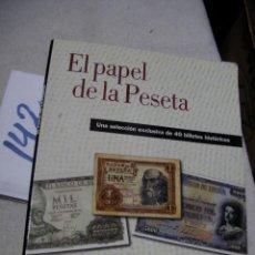 Reproducciones billetes y monedas: ALBUM DE BILLETES - EL PAPEL DE LA PESETA. Lote 162032906
