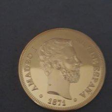 Reproducciones billetes y monedas: MONEDA ORO AMADEO I (1871). Lote 191104788