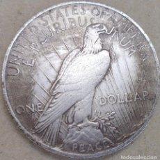 Reproducciones billetes y monedas: MONEDA DE 1921 USA CON BAÑO DE PLATA. Lote 162945614