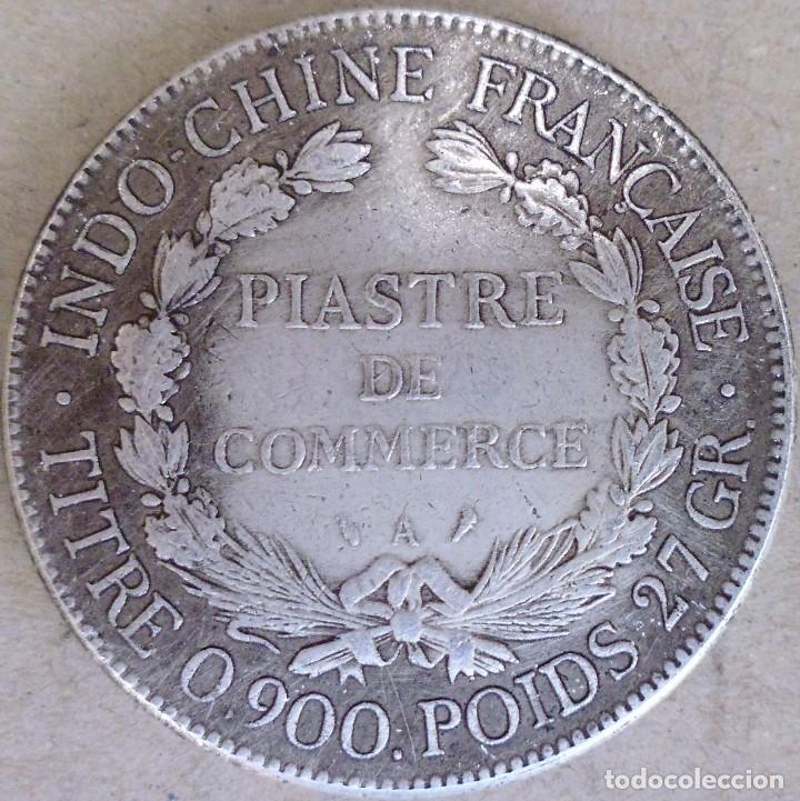 Reproducciones billetes y monedas: MONEDA DE LA REPÚBLICA FRANCESA 1905 CON BAÑO DE PLATA - Foto 2 - 162949130