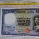 Reproducciones billetes y monedas: BILLETE FACSÍMIL DE ESPAÑA. Nº 120. BARCELONA 11 JUNIO 1938. 5000 PESETAS. Lote 164973830