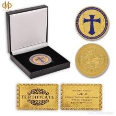 Reproducciones billetes y monedas: MONEDA DE LOS MASONES CABALLEROS TEMPLARIOS. Lote 166244137