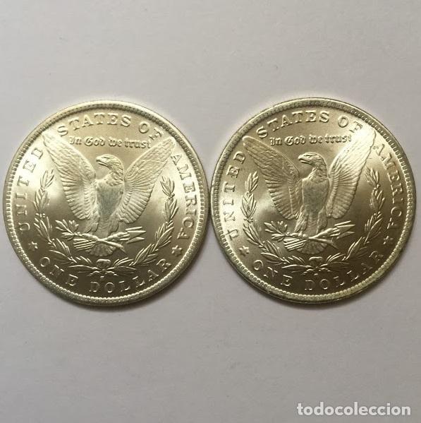 DOLAR USA DE DOS CARAS IGUALES CON EL AGUILA (Numismática - Reproducciones)