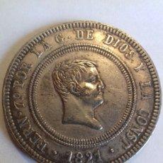 Reproducciones billetes y monedas: REY DE LAS ESPAÑAS- 10 R. FERNANDO VII- 1821-. Lote 167738282