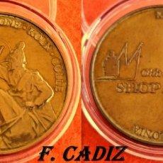 Reproductions billets et monnaies: MEDALLA PROPAGANDA COLONIA SHOP AMDOM - 35 MM 16 GRS. CAPSULA. Lote 168106216