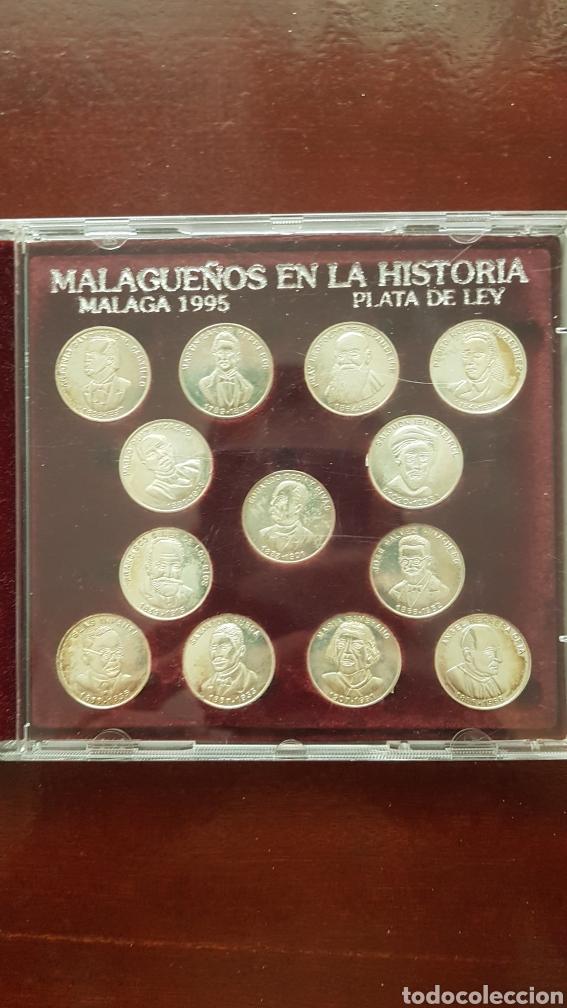 COLECCIÓN MONEDAS MALAGUEÑOS EN LA HISTORIA (Numismática - Reproducciones)