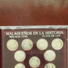 Reproducciones billetes y monedas: COLECCIÓN MONEDAS MALAGUEÑOS EN LA HISTORIA. Lote 168254122