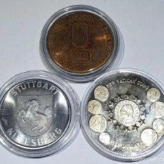 Reproductions billets et monnaies: LOTE DE 3 MEDALLAS VARIOS PAISES Y AÑOS - MEDALLAS Nº 6 2019. Lote 168383160