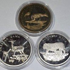 Reproductions billets et monnaies: LOTE DE 3 MEDALLAS VARIOS PAISES Y AÑOS – MEDALLAS Nº 9 2019. Lote 168385228
