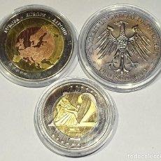 Reproductions billets et monnaies: LOTE DE 3 MEDALLAS VARIOS PAISES Y AÑOS – MEDALLAS Nº 11 2019. Lote 168391344