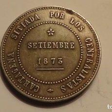 Reproducciones billetes y monedas: 5 PESETAS 1873 - REVOLUCIÓN CANTONAL. Lote 168677557