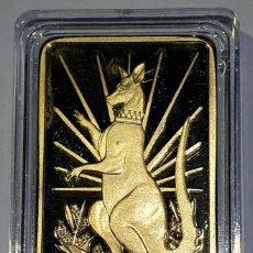 Reproduções notas e moedas: LINGOTE ORO 1 OZ - CANGURO - AUSTRALIA 2014 - CAPSULA. Lote 168823312
